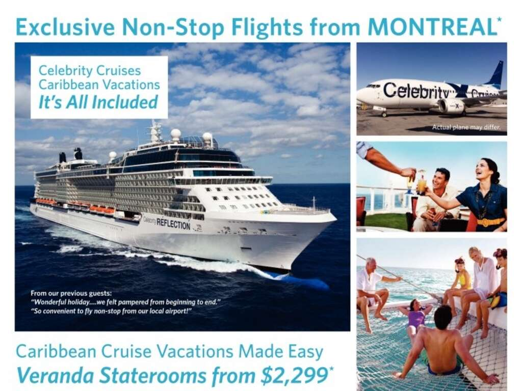 Celebrity Caribbean Cruise With Non Stop Flights From Montreal