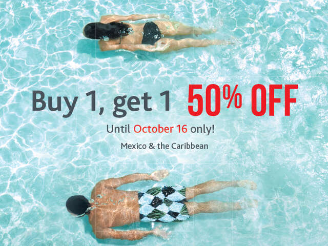 BOGO on Mexico & the Caribbean