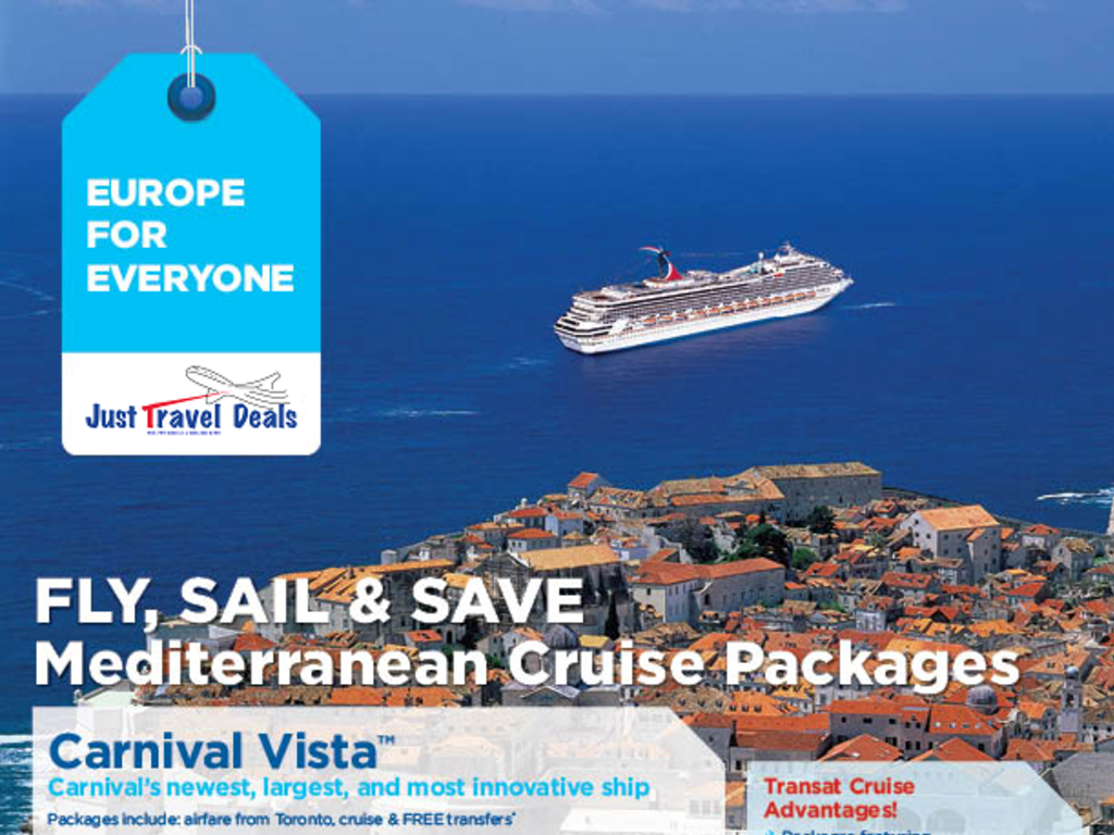 Fly Sail Save On Mediterranean Cruise Packages With Carnival Vista