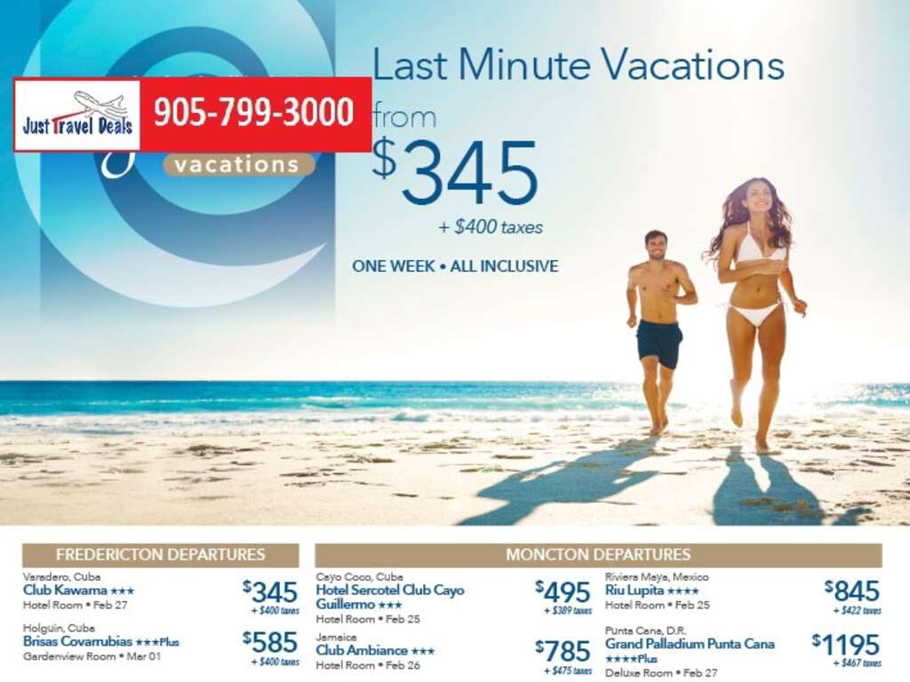 Last minute vacations deals from vancouver bc