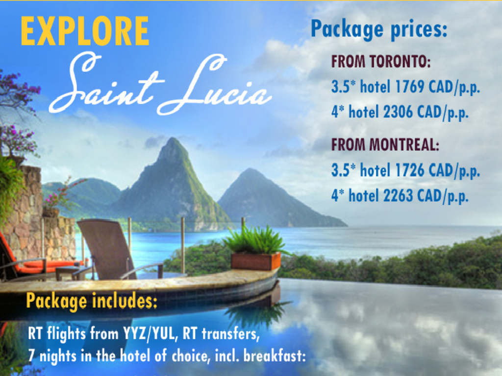Saint Lucia Vacations Hotel And Flight Specials