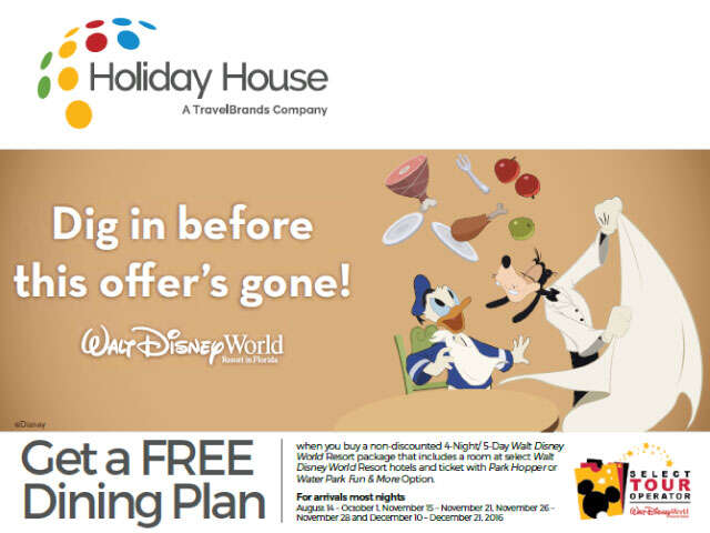 Walt Disney World - Free Dining Plan