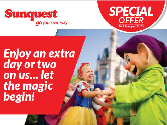Enjoy an extra day or two on us...let the magic begin!