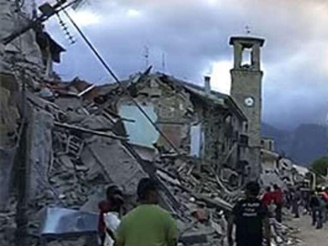 EARTHQUAKE ROCKS CENTRAL ITALY