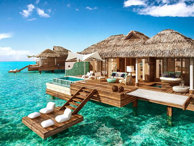 Over the water bungalows - the perfect romantic getaway