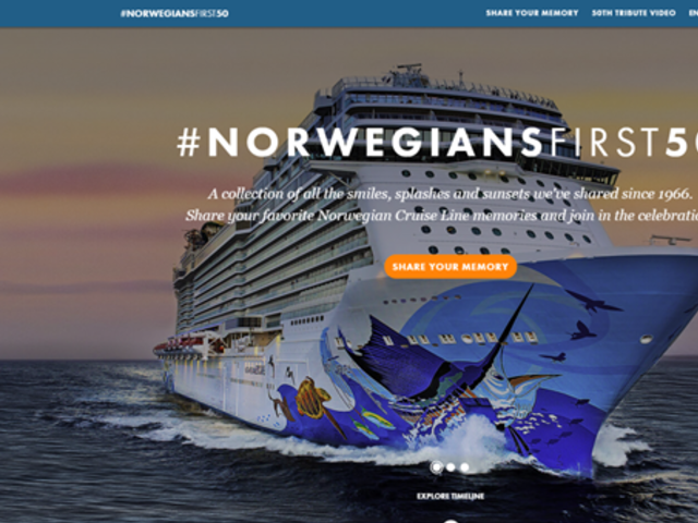 Norwegian Cruise Line Celebrates its First 50 Years