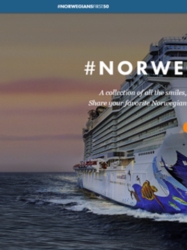 NCL 50th Anniversary - $100 Onboard Credit Combinable with Free at Sea