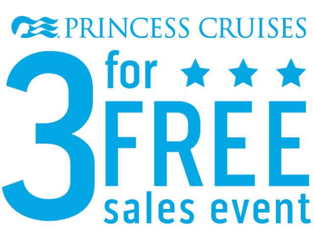 Princess Cruises: 3 for FREE Sale