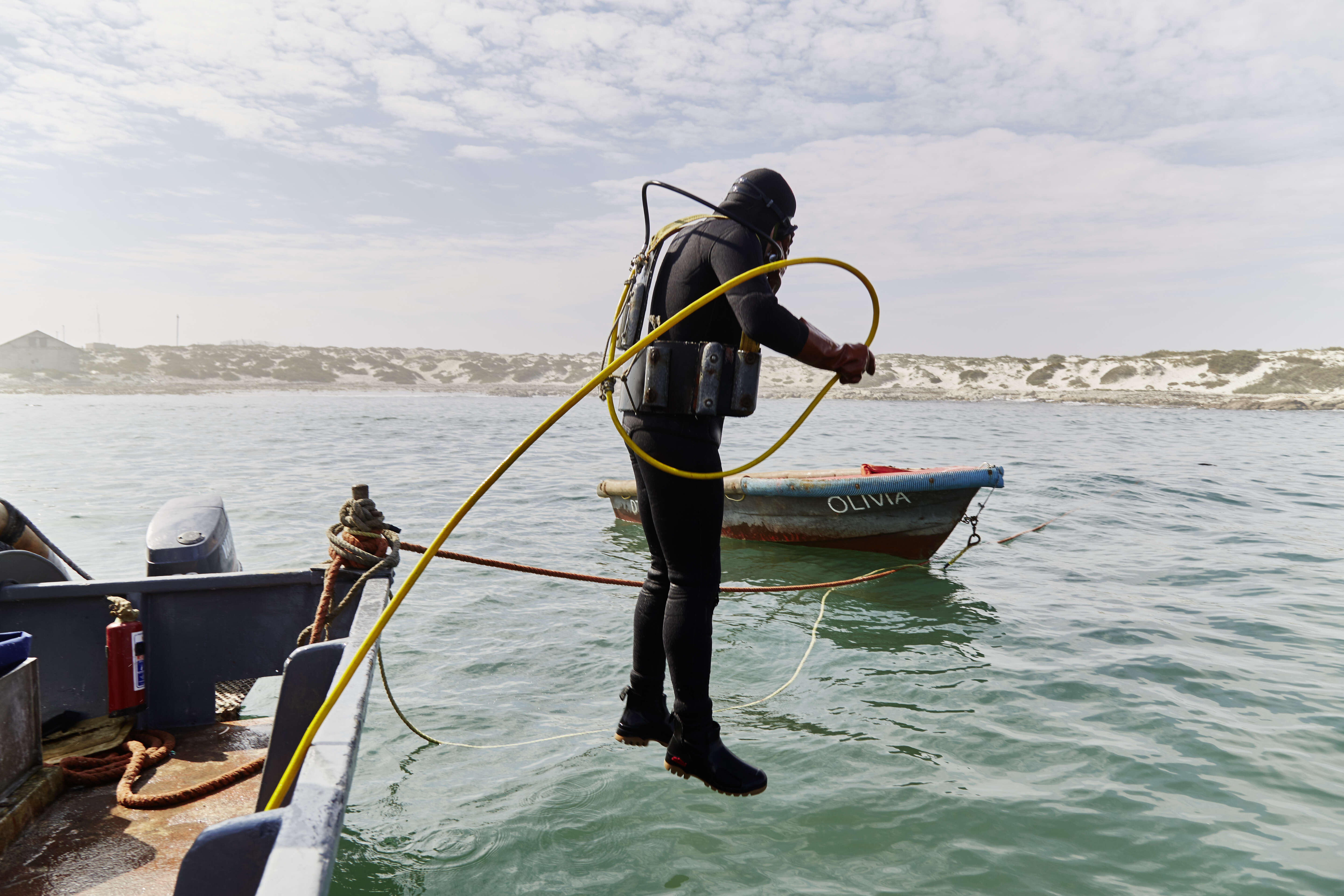 Diving for Ocean Diamonds on 'Safari' in South Africa