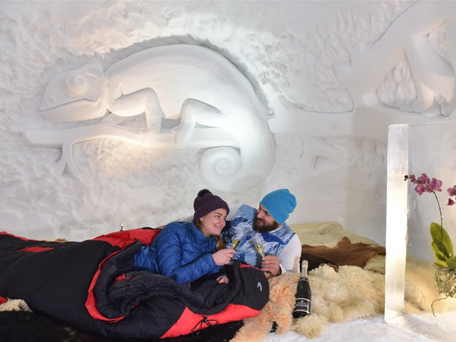 Snuggle in an Igloo in the Alps in Switzerland