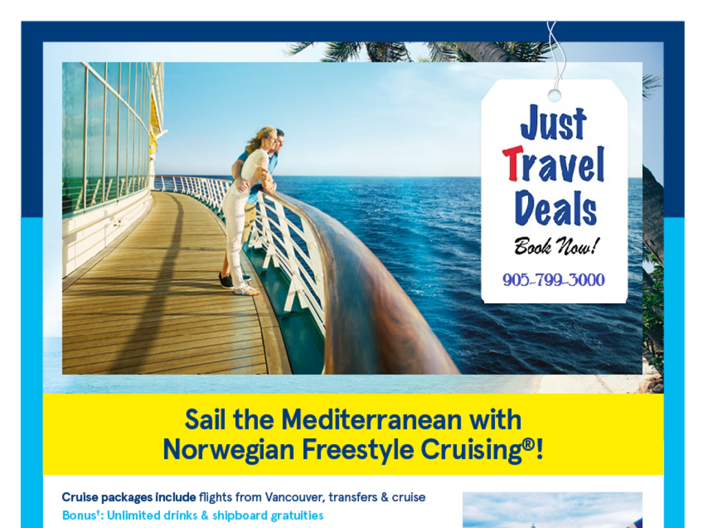 Sail The Med With Norwegian Freestyle Cruising From Vancouver