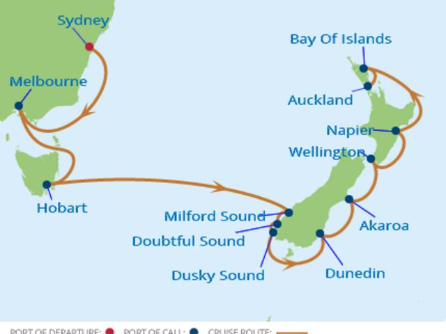 14-Night Australia & New Zealand CME Cruise February 3-17, 2018