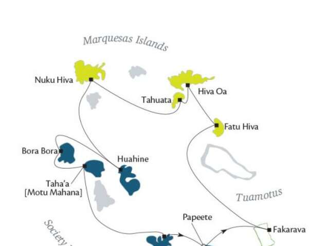 14-Night Tuamotus & Society Islands CME Cruise April 14-28, 2018