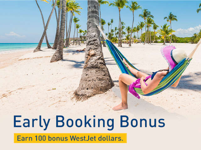 WestJet Vacations: Early Booking Bonus