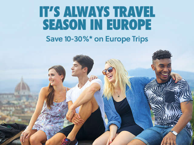 Europe Everyday: Save up to 30% + $50 with airfare
