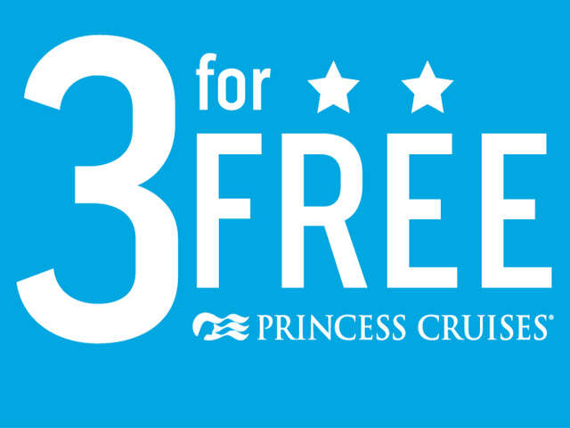 Princess Cruises 3 For FREE Sale