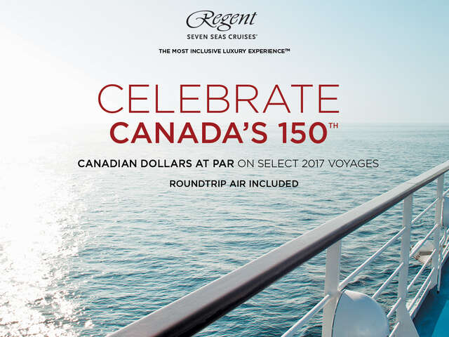 Canadian Dollars at Par on Select Regent Seven Seas Cruises