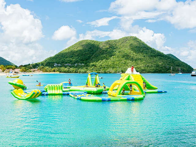 Receive free passes to Splash Island Water Park in St. Lucia