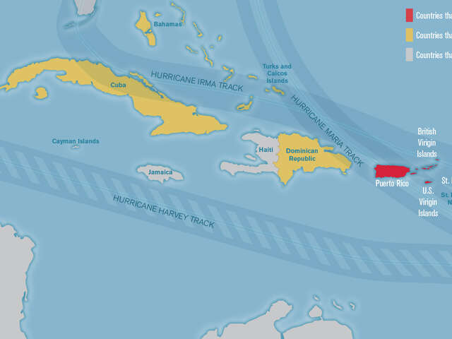 Caribbean Islands Affected by Hurricanes