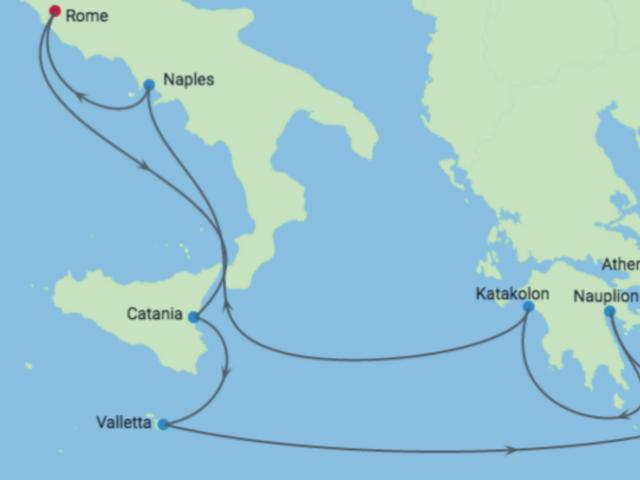 11-Night Amalfi Coast & Greek Isles CME Cruise May 25 - June 5, 2019
