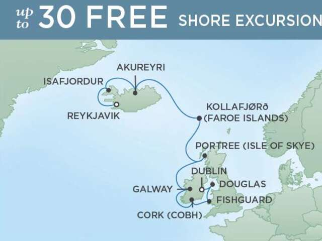 12-Night Dublin to Reykjavik CME Cruise June 29 - July 11, 2019