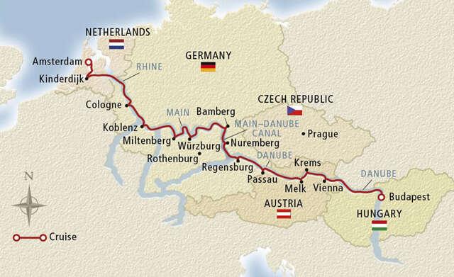 Grand European Cruise Map