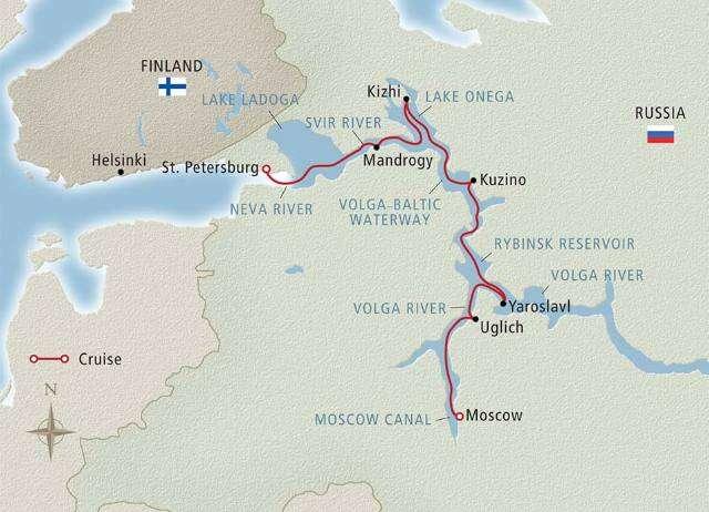 Waterways of the Tsars Map
