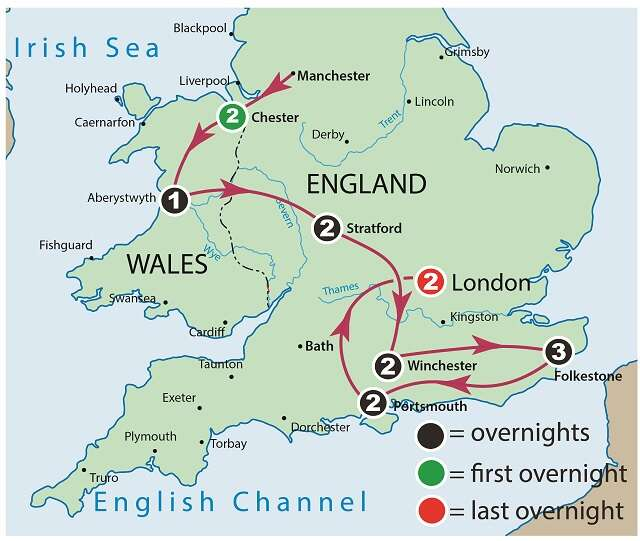 England and Wales Beyond the Hedge Row Map