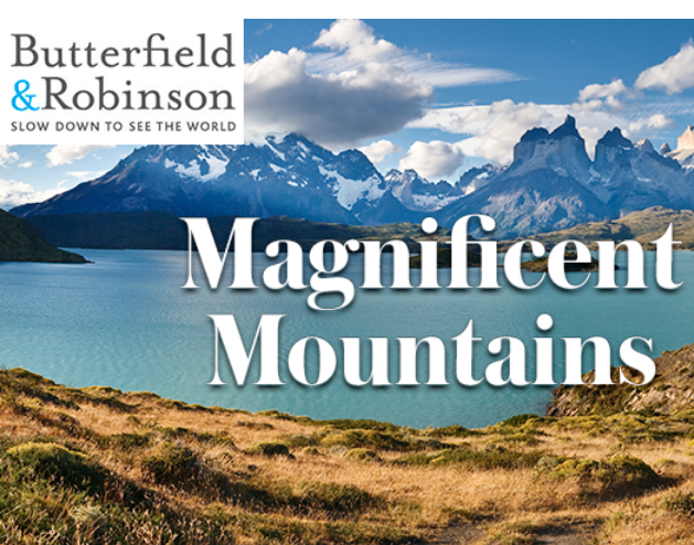 Butterfield & Robinsons's 2018 Mountain Adventures