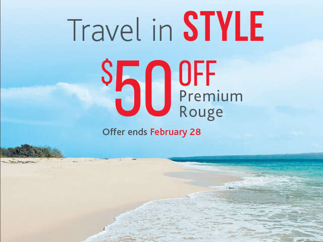 Save $50 on Premium Rouge