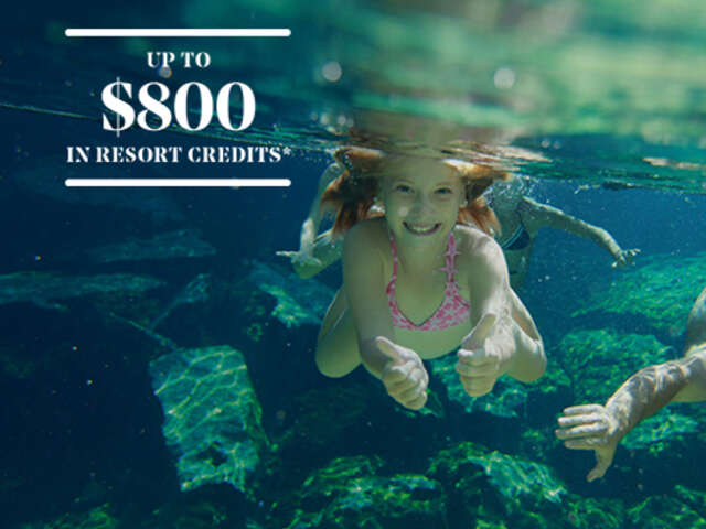 Up to $800 in resort credits at Iberostar