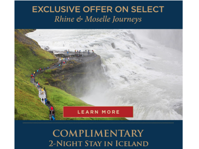 Extended til April 30: Iceland for Free with a Rhine River Cruise
