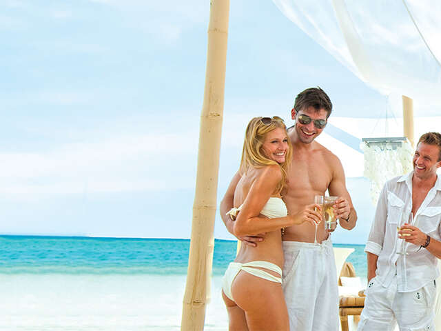 6th room fly and stay free with Sandals and Air Canada Vacations