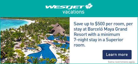 WestJet Vacations Aug 2018