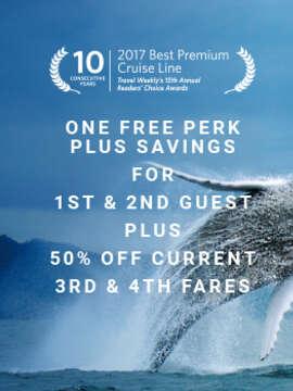 Free Perk PLUS Savings per stateroom on Celebrity Cruises