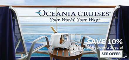 Oceania Cruises Canadian Residents Offer September 2018
