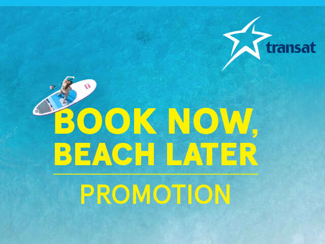 Book Now, Beach Later Sale with Transat