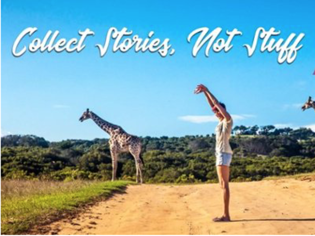 Collect Stories Not Things