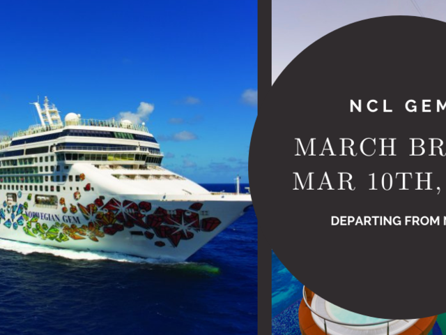 10-Day March Break 2022 Cruise on NCL Gem from NYC | Exclusive Pricing