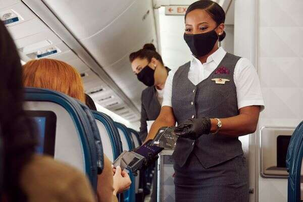 Delta debuts latest touchless tech: contactless payment onboard