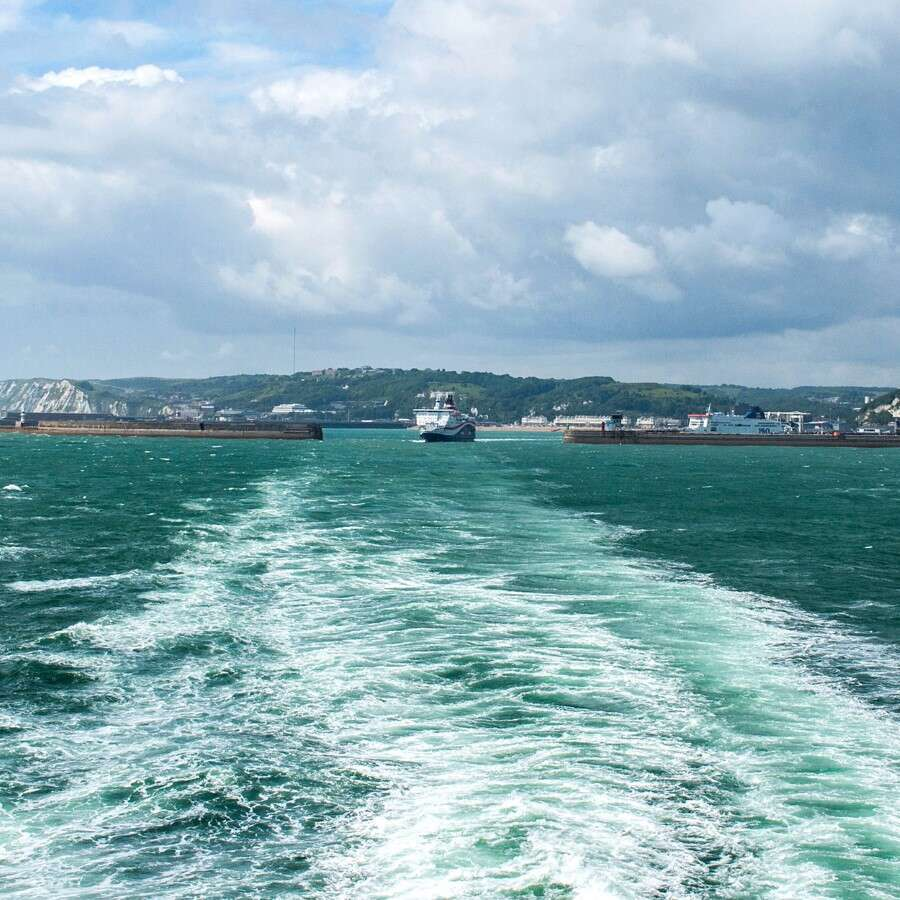 Setting off from the White Cliffs - Dover, UK