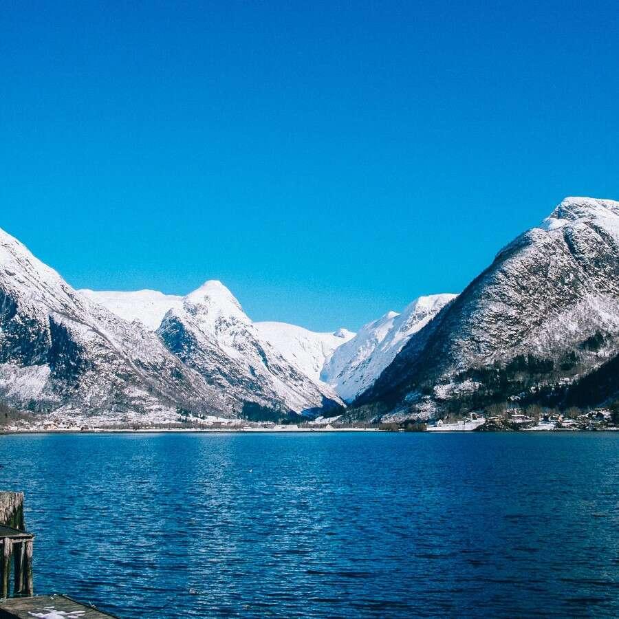 The longest fjord in Norway - Fjærland, Norway