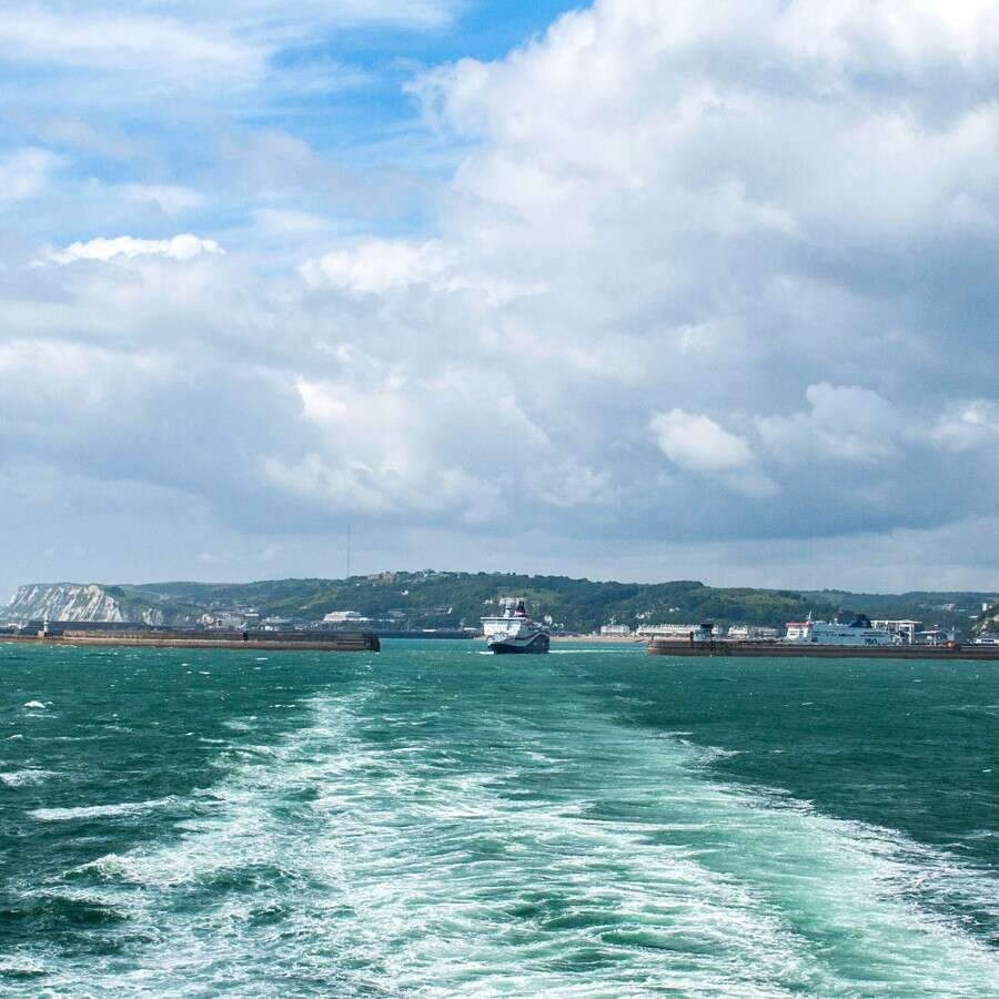 Setting off from the White Cliffs  - Dover