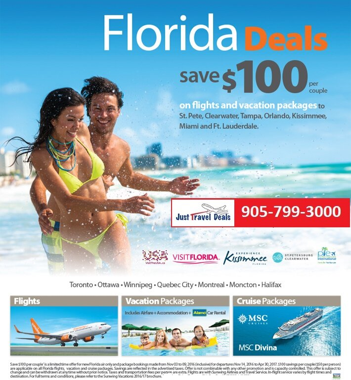 Florida Vacation Deals Save 100 Per Couple