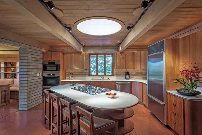 Frank Lloyd Wright Home 4.5 Star, Waimea, Hawaii kitchen