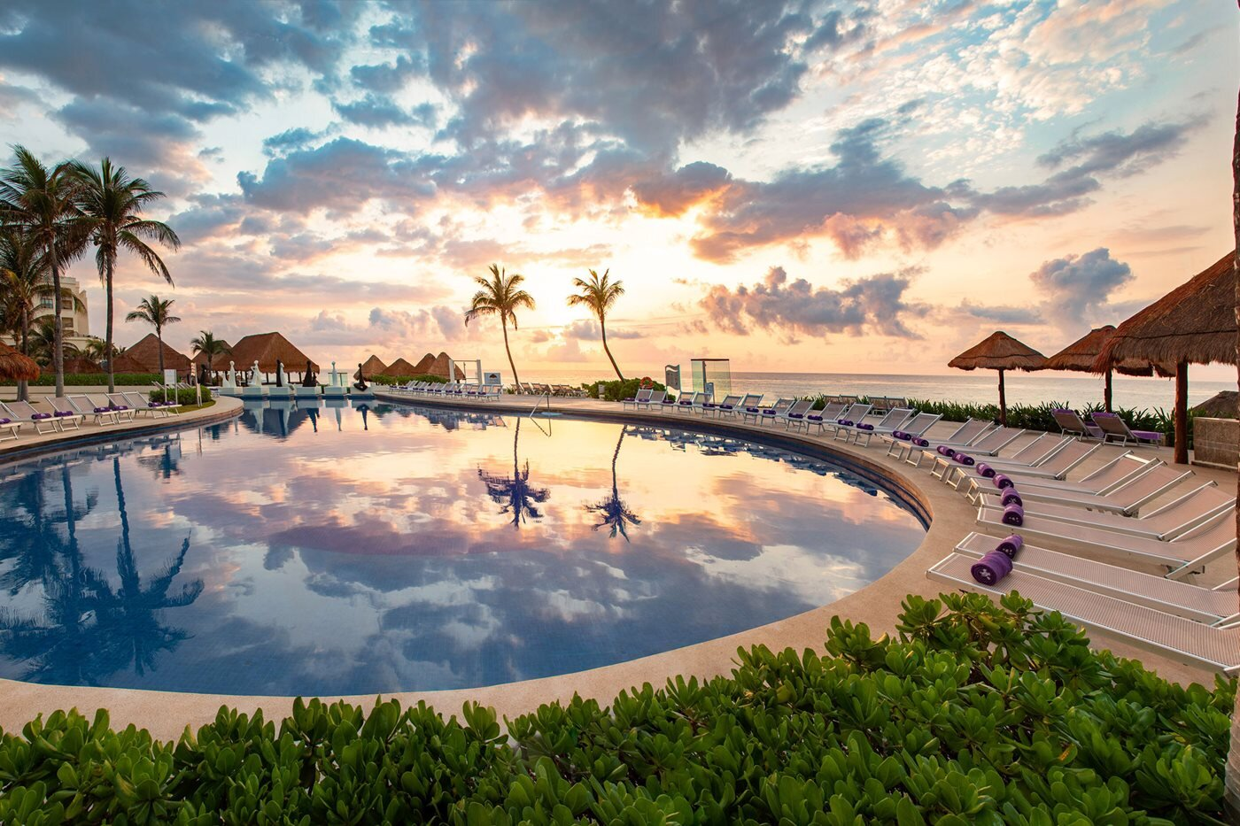 Paradisus Cancun Cancun, Mexico pool sunset