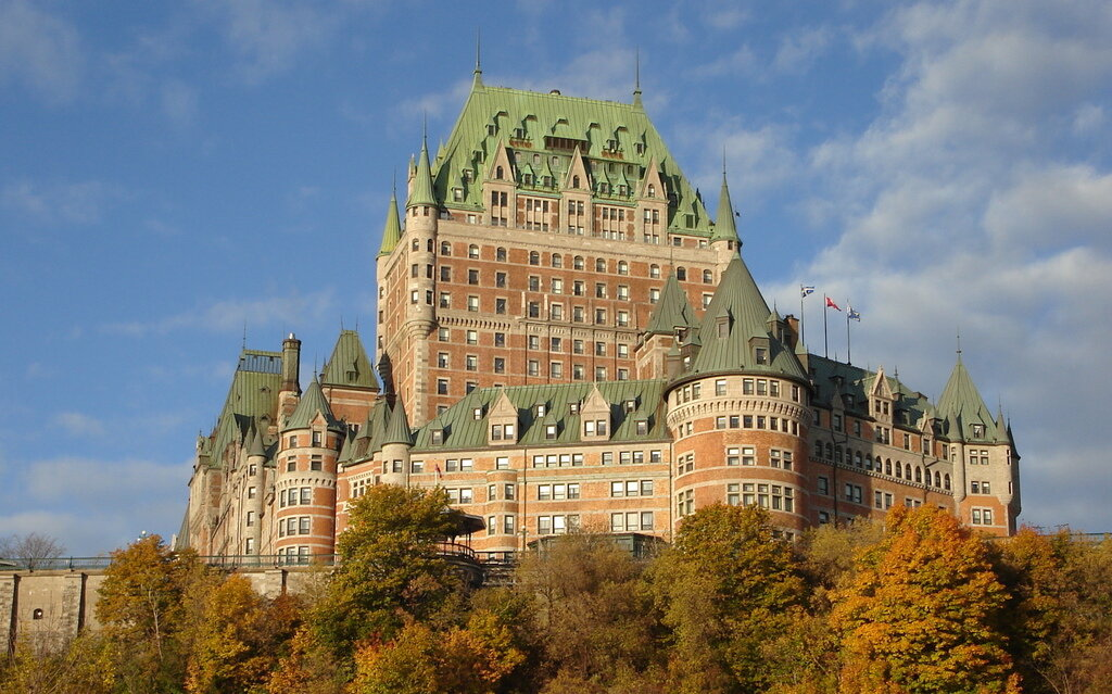 During your tour of Quebec City, visit Chateau Frontenac, one of the most famous hotels in all of Canada.