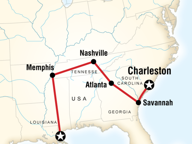 Highlights of the Deep South