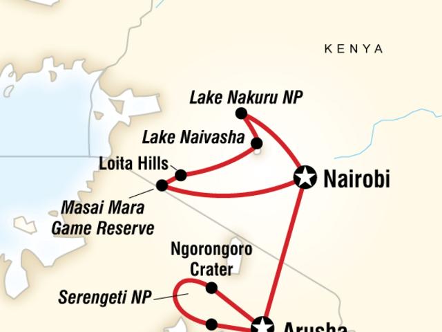 Kenya & Tanzania Overland Express (Nairobi to Arusha)