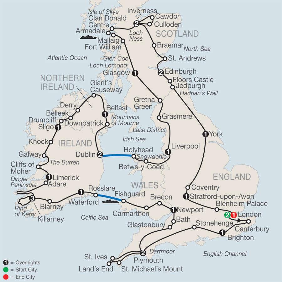 Map Of Ireland And Scotland.Britain Ireland In Depth